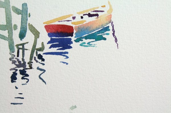 ./newwatercolours/10659Red boat, Sicily_wm.JPG