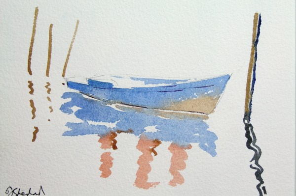 ./newwatercolours/10664Boat with posts, Venice_wm.JPG